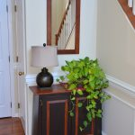 After Foyer, Walls: Benjamin Moore Bone White, Trim: Super White
