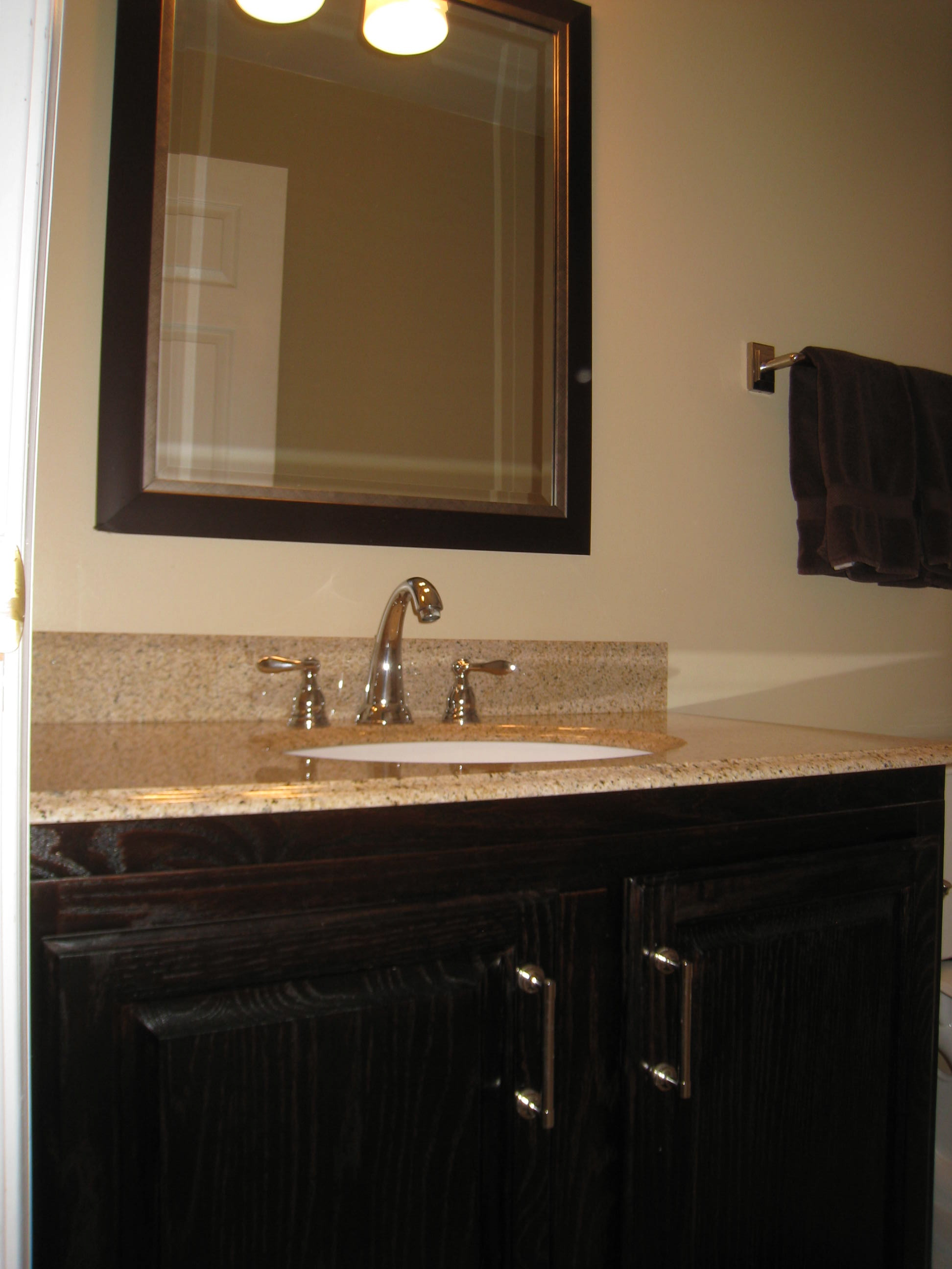 Diy before and after bathroom vanity makeover intentional designs