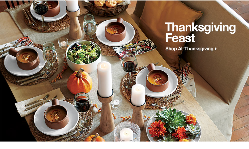 From Crate and Barrel, Thanksgiving Feast
