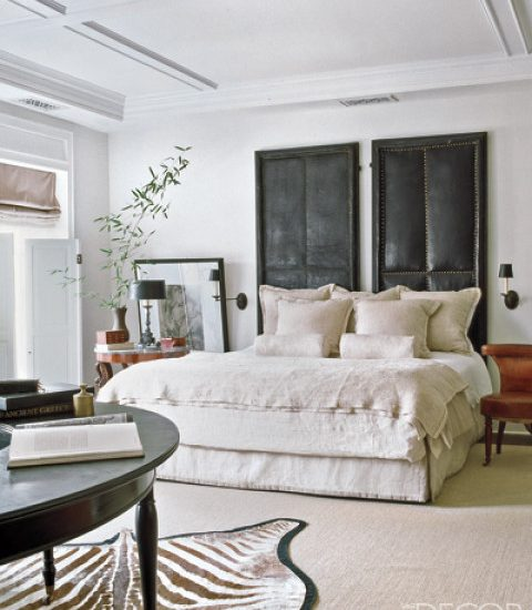 Elle Decor: Bedroom designed by Darryl Carter. Photography by Simon Upton.