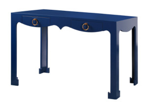 Bungalow5. Jacqui Desk in Navy Blue