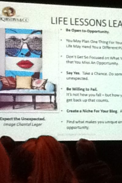 "From presenter Toma Clark Haines ""The Antiques Diva"" anituqesdiva.com. 2014 Design Blogger Conference."