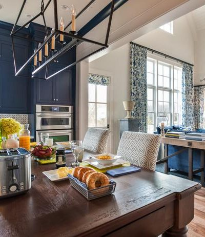 Blue Kitchen Cabinets … HGTV Smart Home 2014
