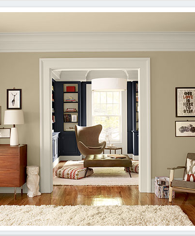 upholstered chair, Staging Tips & Ideas, Benjamin Moore Shaker Beige