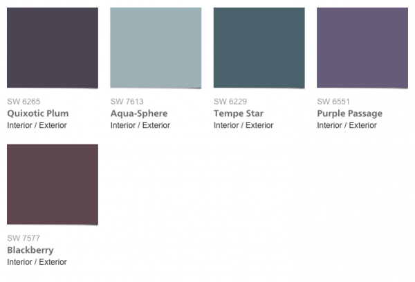 Paint Colors 2016 Sherwin Williams Trajectory Collection