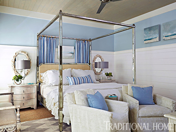 Beachy Blues, Traditional Homes Master Bedroom
