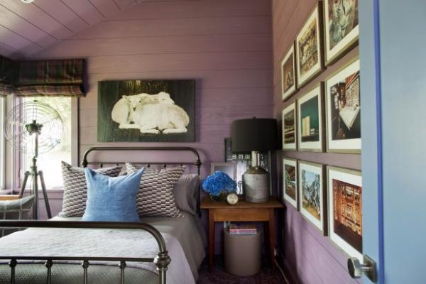 Guest Suite, Urban Oasis 2015, Sherwin-Williams Expressive Plum SW6271
