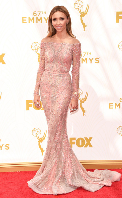 From EOnline.com, Giuliana Rancic Emmy Dress 2015