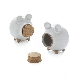 From Crate& Barrel Oink Salt and Pepper Set