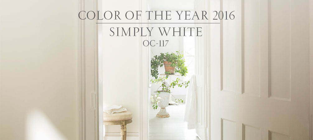 simply white benjamin moore color of the year 2016. Black Bedroom Furniture Sets. Home Design Ideas