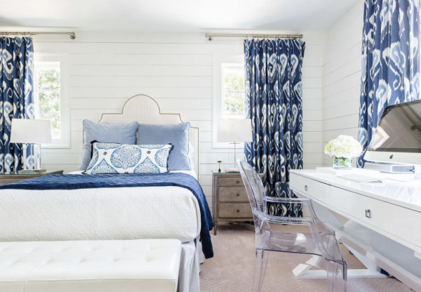 Behind the Design: Bedroom Window Treatments, Trend Watch: Ikat Print Draperies