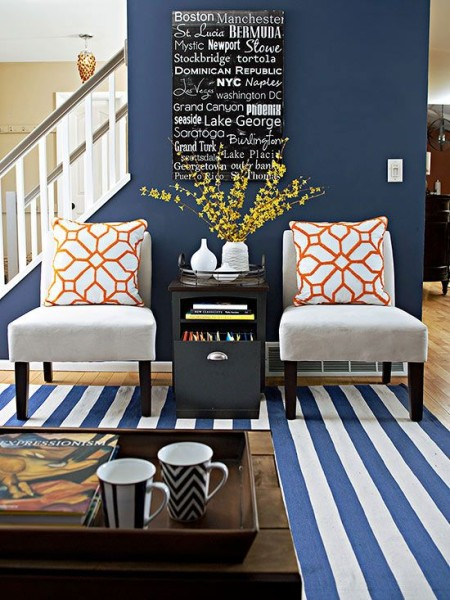 upholstered accent chairs, Navy Blue, February 2016 Top Decorating Ideas