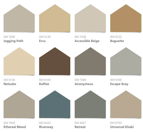 A Color Scheme For Whole House See Paint Colors In Real Es This