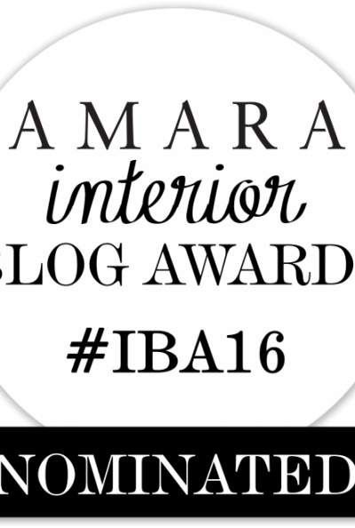 IntentionalDesigns.com Nominated for Amara Interior Blog Award!