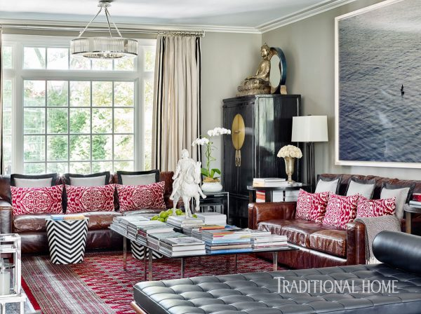 red and gray, red home decor