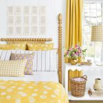 yellow accessories, summer-house, spring decorating, bold fabric patterns