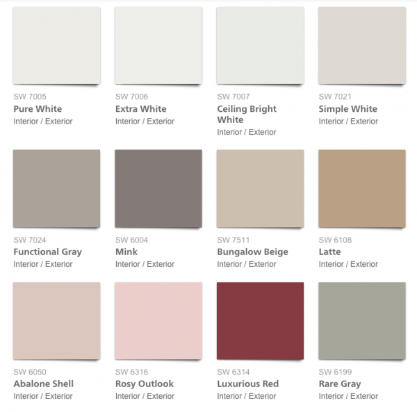 Pottery Barn 2017 Spring:Summer Paint Colors