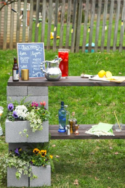 Our Favorite diy of the Week an Outdoor Bar!