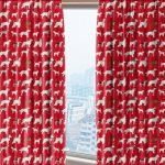 red dog pattern draperies
