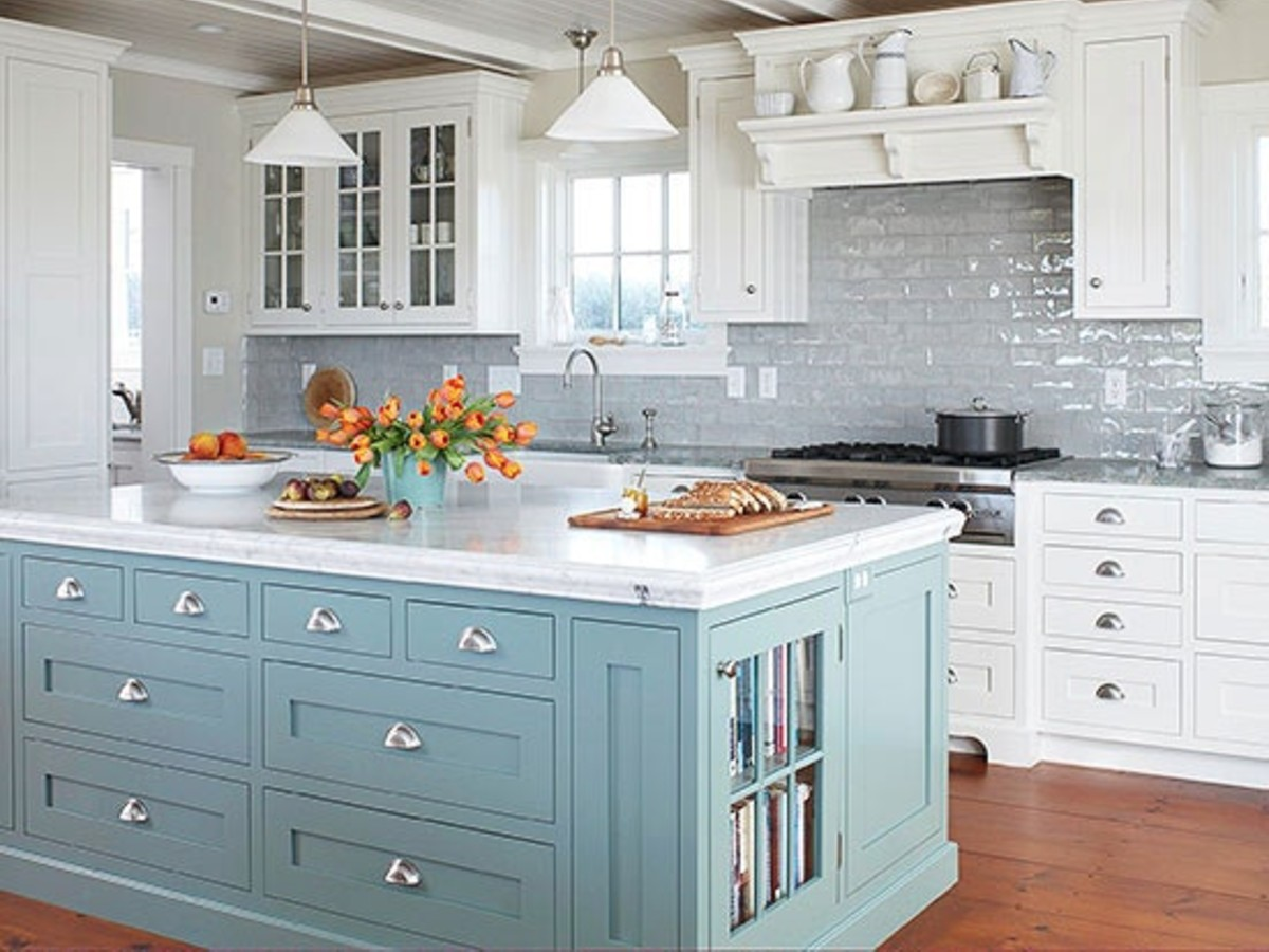 Just for the fun of it ... Painted Kitchen Islands ...