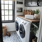 laundry rooms, black and white mudroom