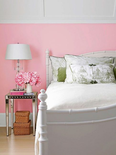 pink, bedroom, nightstands