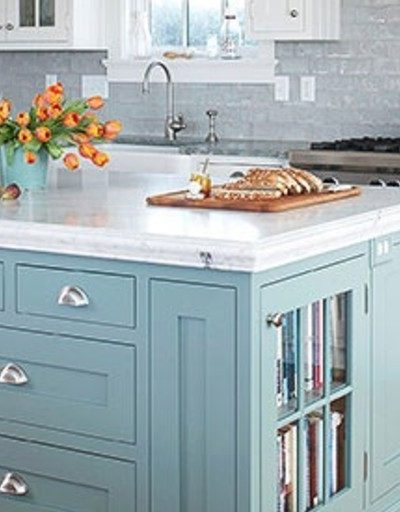 Just for the fun of it … Painted Kitchen Islands