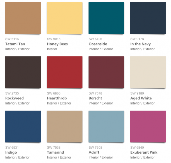 Color forecast 2018 affinity from sherwin williams - Preview exterior house paint colors ...
