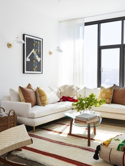Give your white living room a color boost!