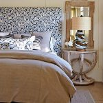 blue and tan guest bedroom