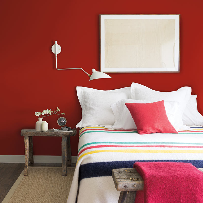 5 Bedrooms With Red Accents