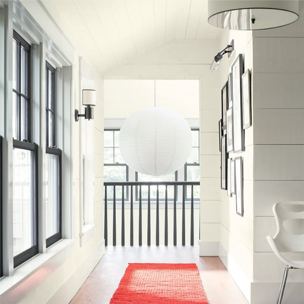 all-white room, Benjamin Moore Color Trends 2018