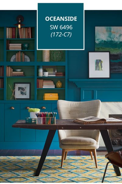 home decorating blog Spring 2018, 2018 paint colors, Sherwin-Williams Color of the Year 2018 Oceanside SW6496