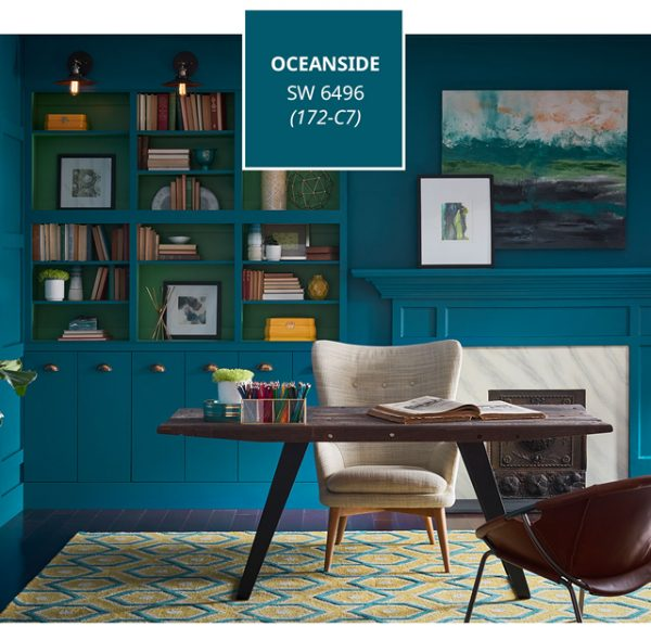 2018 paint colors, Sherwin-Williams Color of the Year 2018 Oceanside SW6496