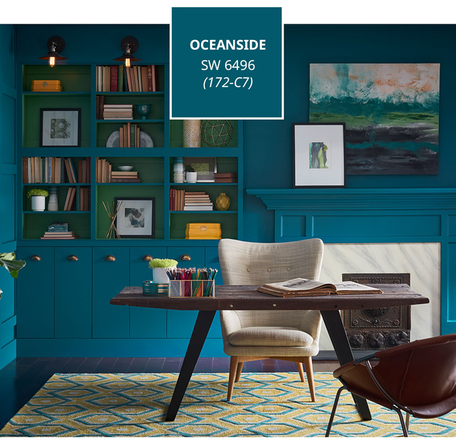 Oceanside sherwin williams 2018 color of the year for Sherwin williams color of the month october 2017