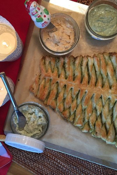 Pesto Puff Pastry Christmas Tree