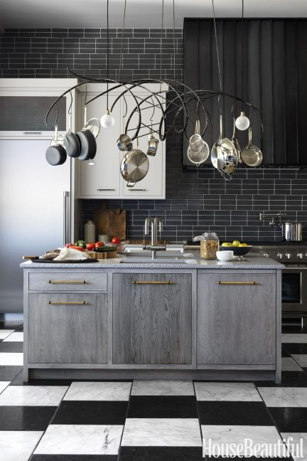 june 1, two-tone kitchen cabinets