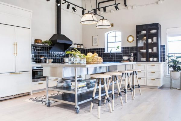 kitchen cabinetry, black and white kitchens
