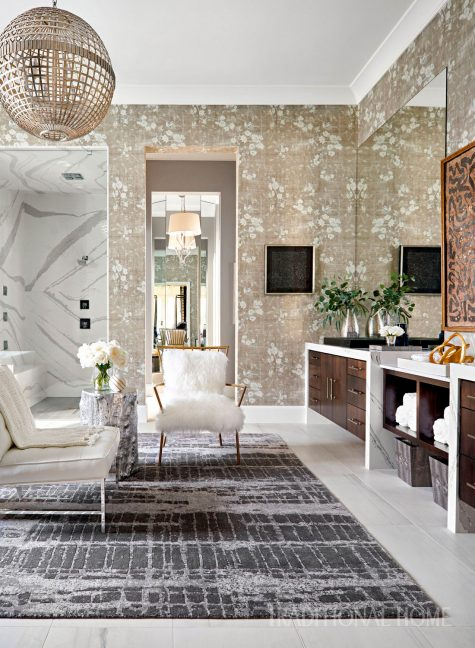 Wallpaper is popping up everywhere home for Www traditionalhome com