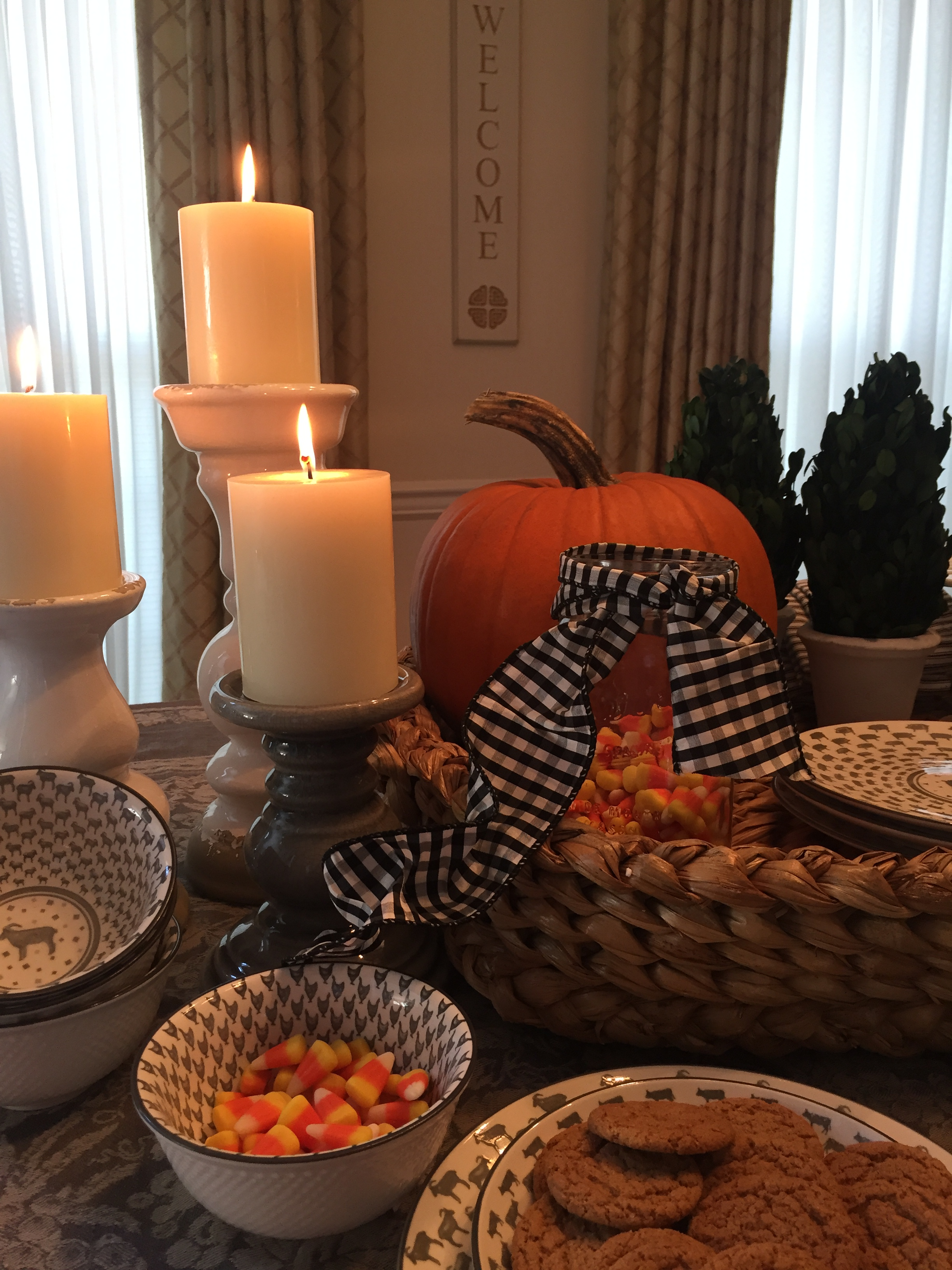 Pillar Candle Holders, Farmhouse Dishes, Cone Topiary