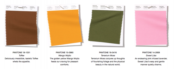 2019 Color Palette Pantone