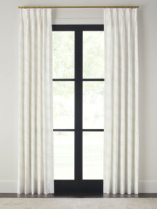 pinch pleat drapery panel