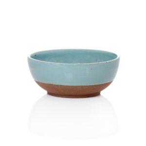 Terracotta & Blue Glazed Bowl, Large