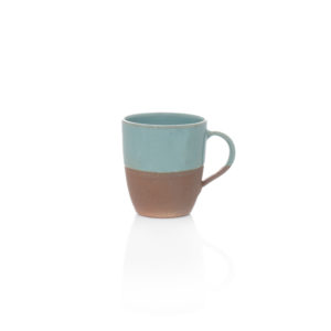 Terracotta & Blue Glazed Mug